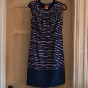 Tory Burch navy silk dress